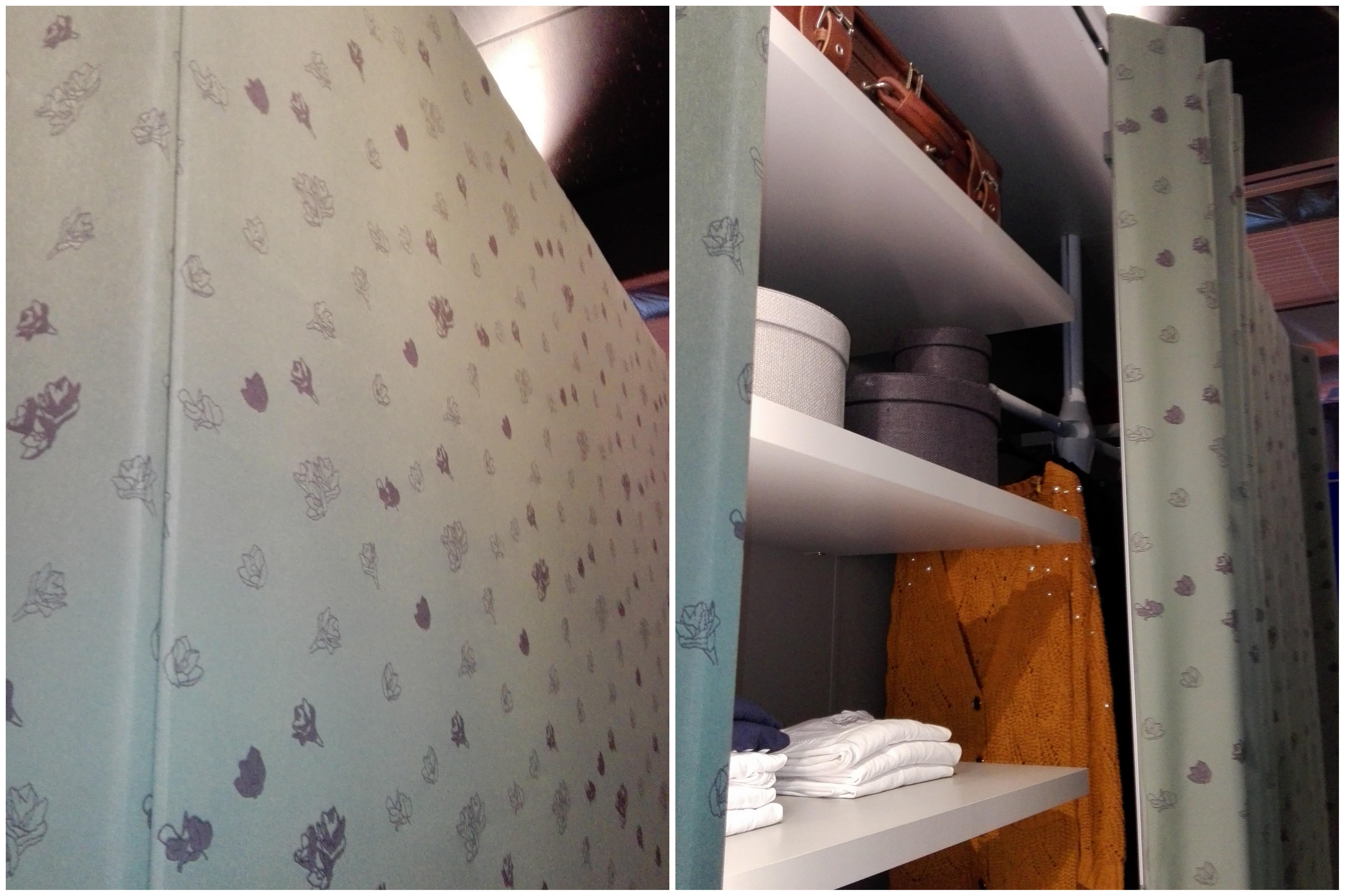 Garderobna omara z drsnimi vrati iz tkanine